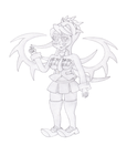 Skullgirls Filia sketch by BoomKey