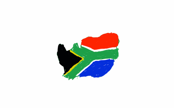 South Africa flag map by UNPSTcommandermark