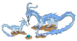 water dragon family by dakuness