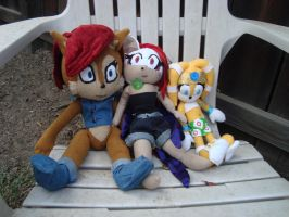 My Custom Sally, Scarlette, and Tikal by theOrangeSunflower