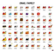 Snail Family by asianpride7625