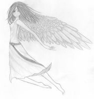 ANIME GIRL WITH WINGS by emmacairnmccallum