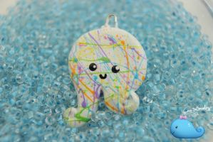 Rainbow Splatter Octopus Necklace by Shelby-JoJewelry
