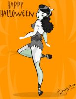 Happy Halloween pin up by sajtz