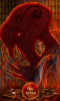 Fire Raven - Oracle Cards Series 1 - Card Four by Spiral-0ut