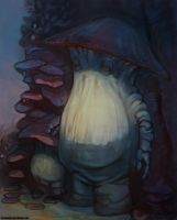 Dark souls mushroom people by Sormia
