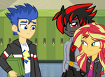 Flash Meets Sunset Shimmer's New Boyfriend by CyrilSmith