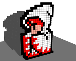 White Mage 8 Bit Voxel by todd102030