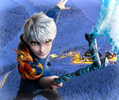 Jack Frost and his Dragon edited by me by Robono