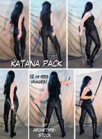 Comic Book Heroine Katana Pack by archetype-stock