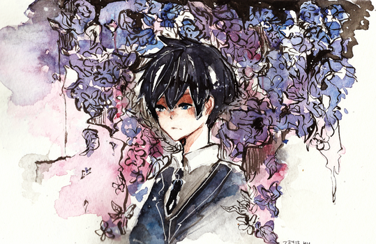 at his funeral by kyunyo