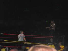 Umaga on the turnbuckle by Shame-On-The-Night
