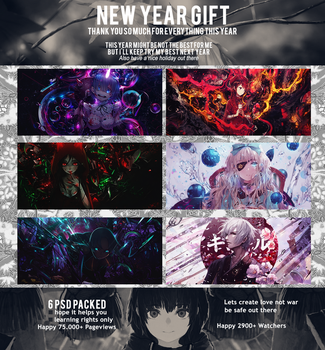 5th PSD Pack (New Year Gift) by Totoro-GX