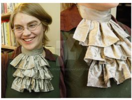 Pewter Jabot by FrockTarts