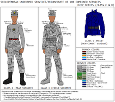Triumvirate/Scolopendran Uniforms, Classes C and D by TheCentipede