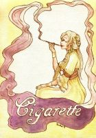 Art Nouveau: Cigarette by Mirabel-chan