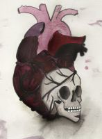 Heart-Skull painted by GretchElise