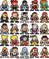 all street fighter characters in 8-bit by superdentbros