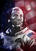 Neil Armstrong by eigenI