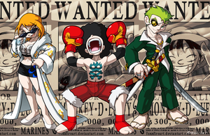 Straw Hat Fighters by FoxxFireArt