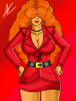 Ms. Sara Bellum: The Mayor's Aide (Fan-Art) by ACdraw