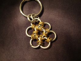 Chain Flower keychain by Menouthys