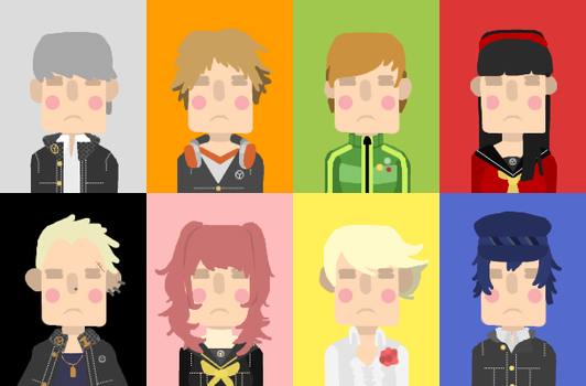 Persona 4 Team by strangelavender
