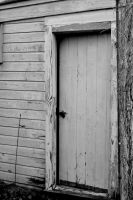 Old Shed Door Black and White Stock by jojo22