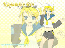 Kagamine Rin Wallpaper by NeyzaFluodrence