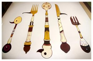 Bird Cutlery by Simanion
