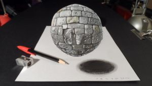 3D Stone Ball by VamosArt