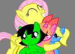 Fluttershy Loves the PPG (updated) by sakikawasaki