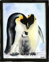 penguin family by EatToast
