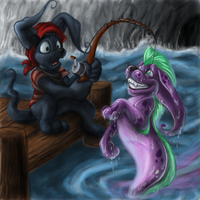 Fishing for gelerts? by 0okamiseishin