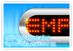 LED Recycle bins by wilsoninc
