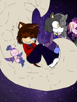 Sleepy prince on the moon :CM: by Yukidog674