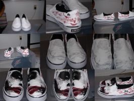 Making of Why So Serious Shoe by Sister-of-Charity