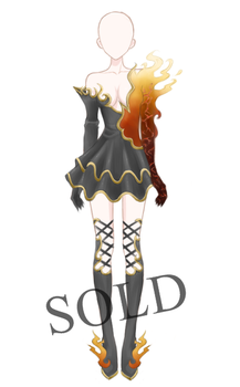 [SOLD] Burning Armour Adoptable by Aloise-chan