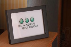 Diamonds Are A Miner's... - for sale on Etsy by theyarnbunny