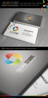 Colorx Studio Business Card Template by kh2838