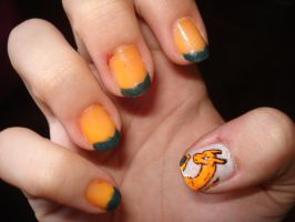 Charizard Nails by Camilicks