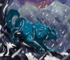 Ice Wolf by Zoba22