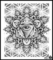 mandala eye by pande-lee