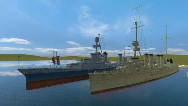 Destroyers USS Happyling and Chicachickson by BritishKnight1788
