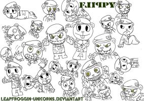 Whole lotta Flippy's :3 by LeapFroggin-Unicorns