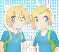 AT- Finn and Fionna by natto-uzumaki