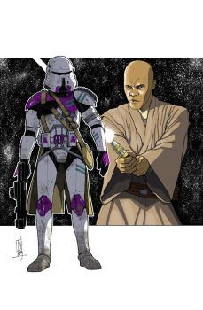 Commanders and Generals: 187th CC/Mace Windu COLOR by Hodges-Art