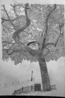 Sketch of NYC tree by BigBigWolf