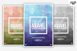 AQUARELLE Paint Flyer Template by WGVISUALARTS