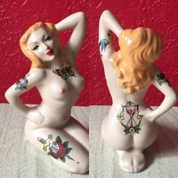 Nudie cutie tattooed vintage figurine~ by hellinahandbag
